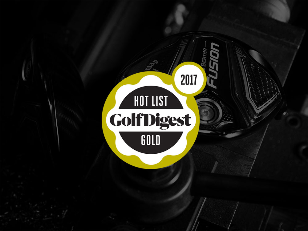 Callaway Big Bertha Fusion Driver 2017 Golf Digest Hot List Badge