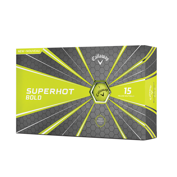 The Superhot Bold Matte Yellow 15-Pack Golf Balls Technology Item