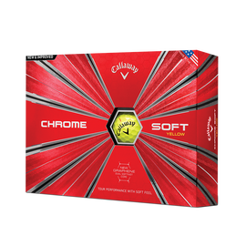 2018 Chrome Soft Yellow Golf Balls