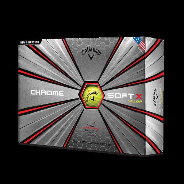2018 Chrome Soft X Yellow Golf Balls Technology Item