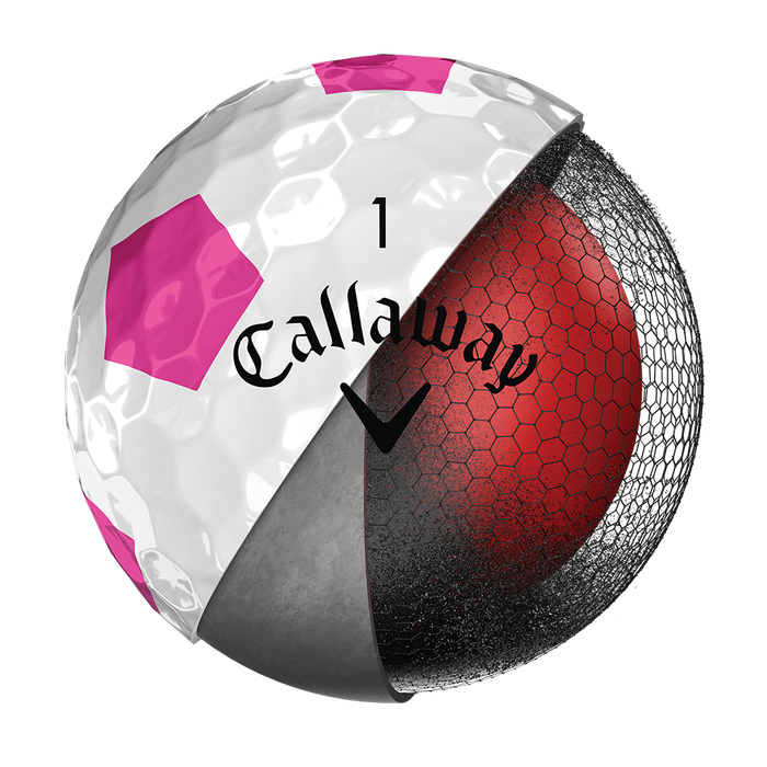 Chrome Soft Truvis Pink Golf Ball