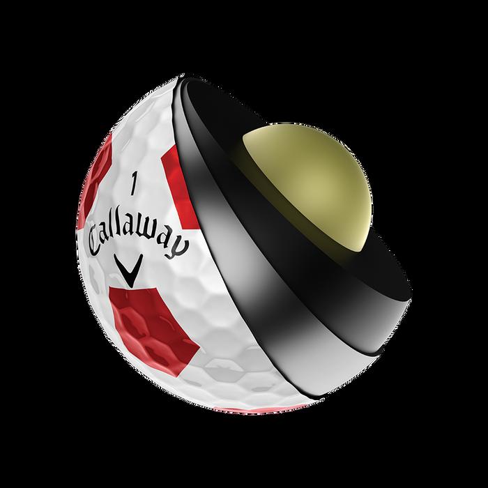 Chrome Soft X Truvis Red Golf Balls
