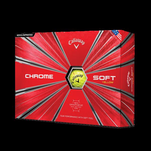 Chrome Soft Yellow Golf Balls Technology Item