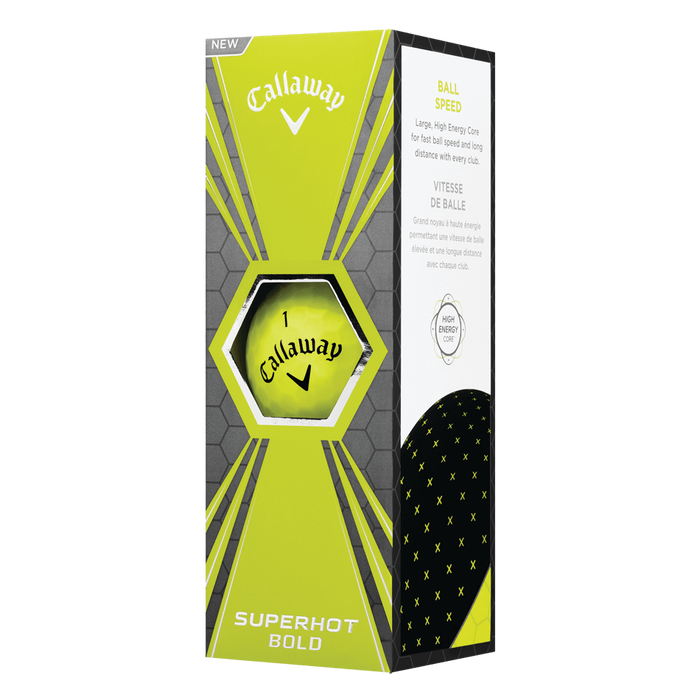 Superhot Bold Matte Yellow 15-Pack Golf Balls
