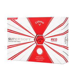 Callaway Supersoft Matte Red Golf Balls