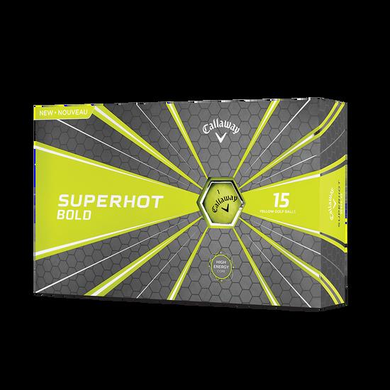 2018 Superhot Bold Matte Yellow 15-Pack Golf Balls