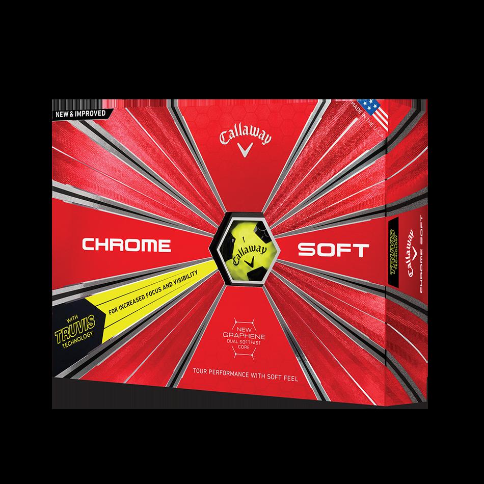 Chrome Soft Truvis Yellow 18 Golf Balls