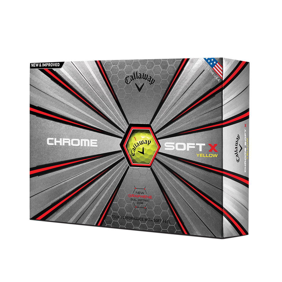 Chrome Soft X Yellow 18 Golf Balls