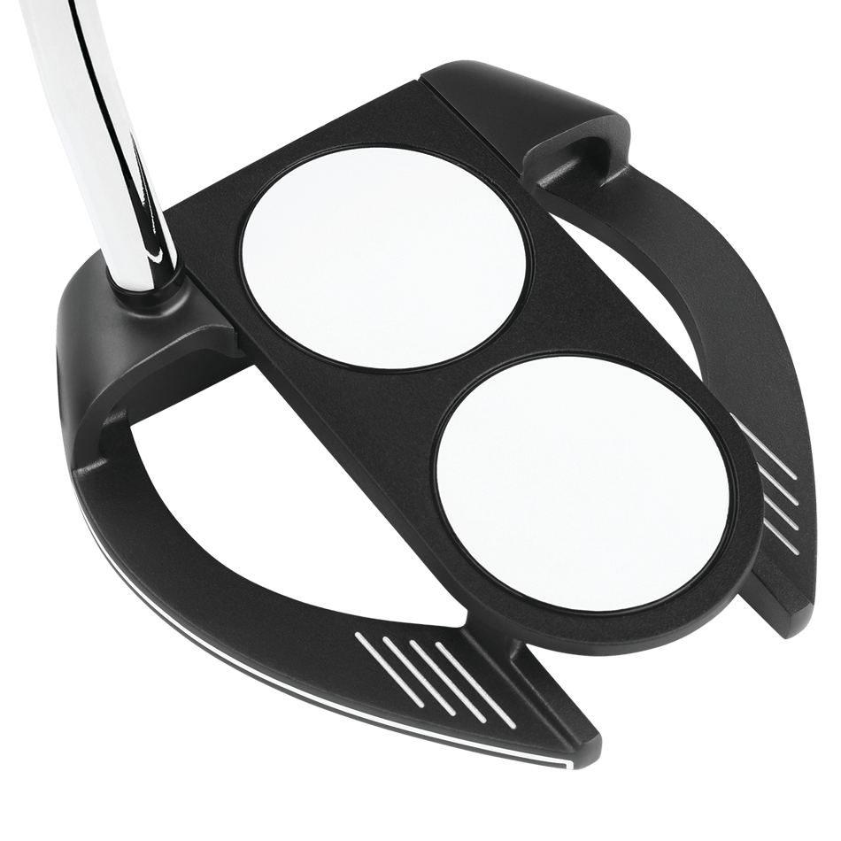 Odyssey O-Works Black 2-Ball Fang Putter - View 4
