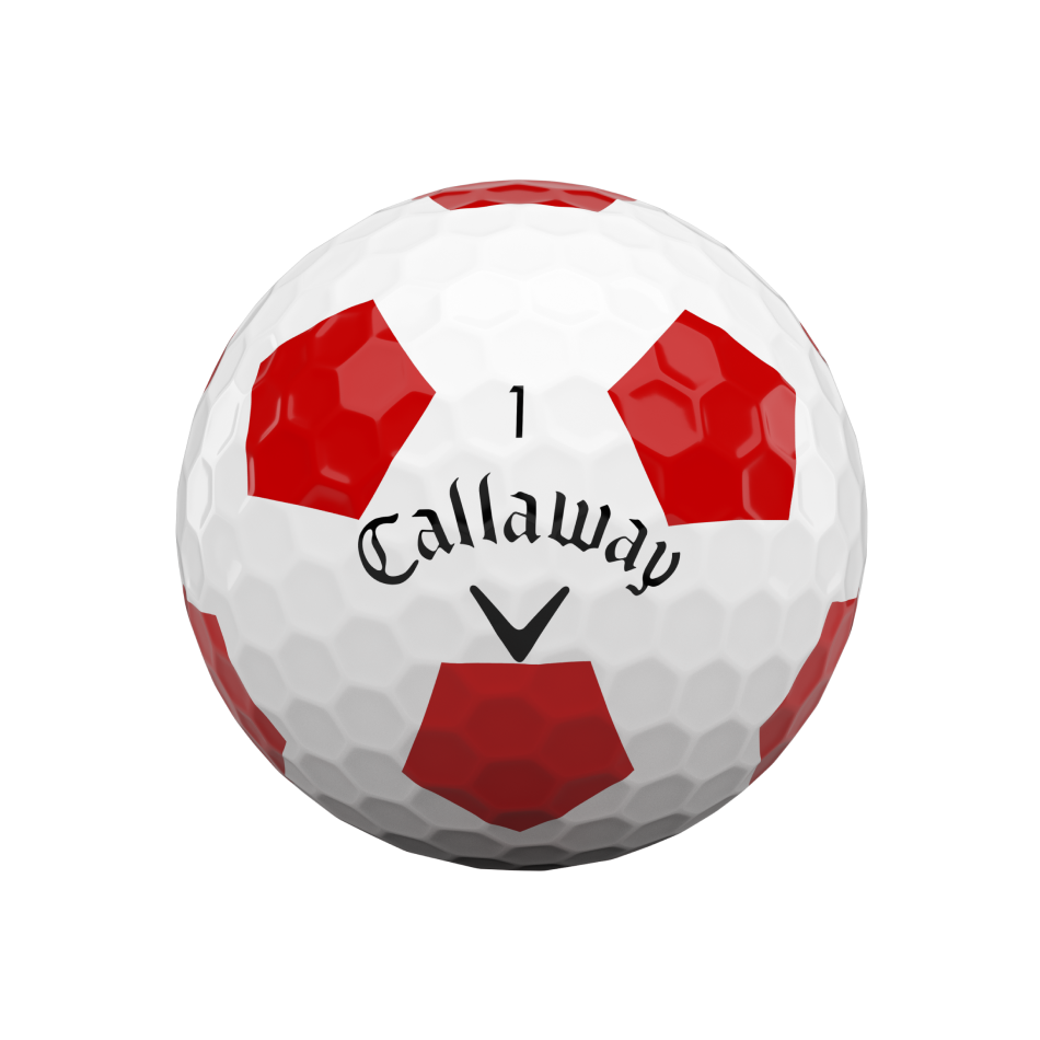 Chrome Soft Truvis Red Golf Balls - View 3