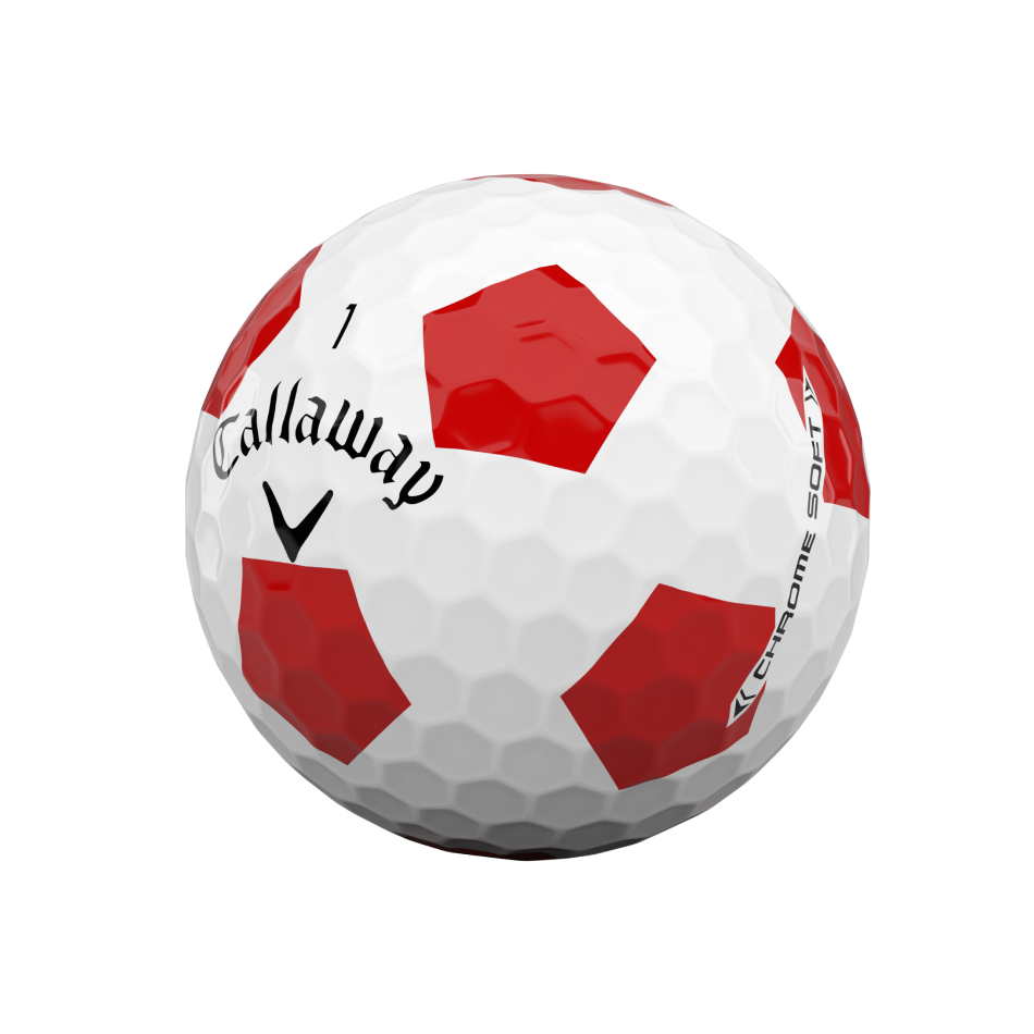Chrome Soft Truvis Red Golf Balls - View 4