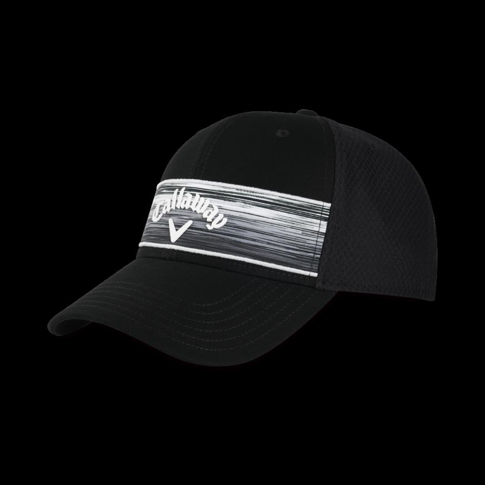 Stripe Mesh Adjustable Cap - View 1